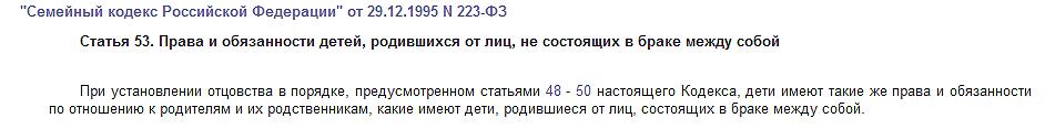 Статья 53 СК РФ