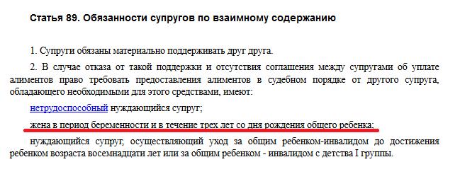 Статья 89 СК РФ