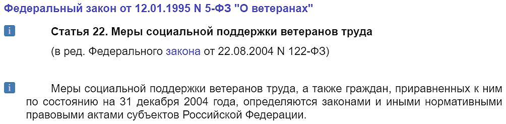 Федеральный закон № 5-ФЗ, статья 22