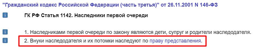 Статья 1142 ГК РФ