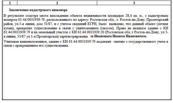 Образец акта обследования зданий часть 2