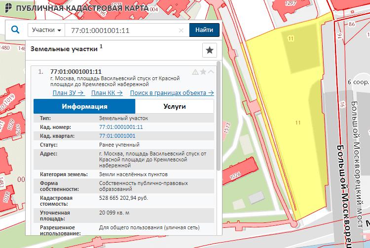 Информация о границах объектов недвижимости