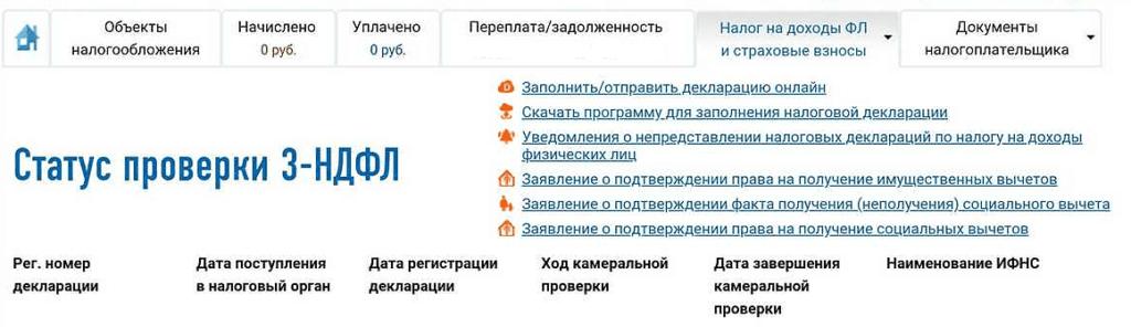 Сведения о статусе заявления через сайт ФНС