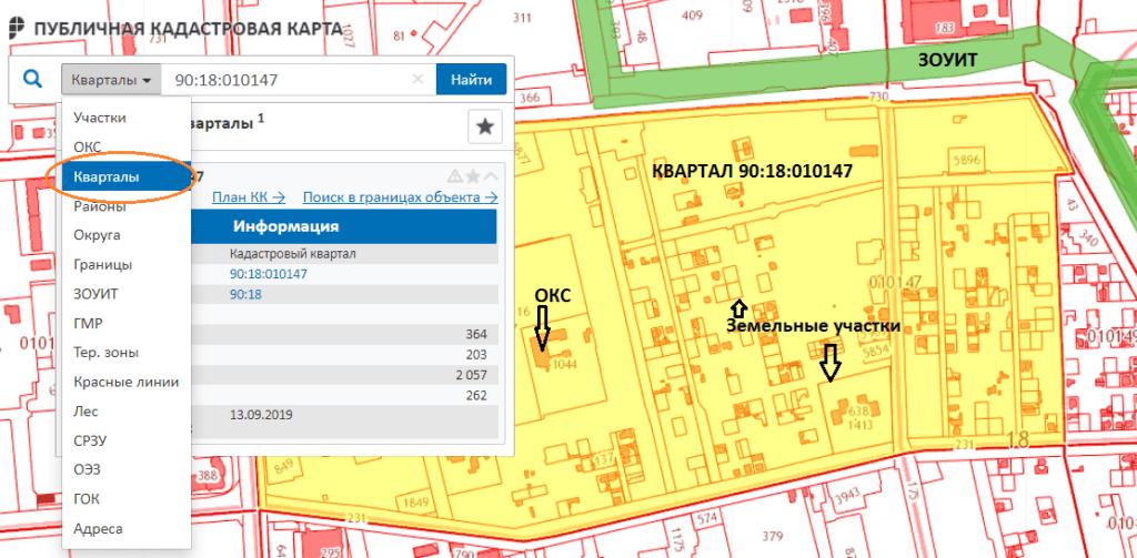 Графическое изображение информации из КПТ полностью отражает Публичная кадастровая карта